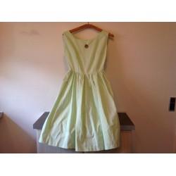 Ældre lyse grøn kjole fra 60'erne