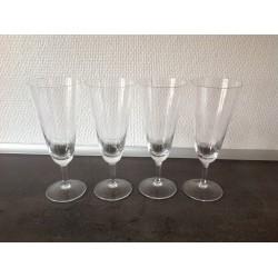Champagne glas med slibninger