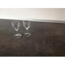 Lille snapseglas med slibninger