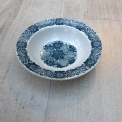Dyb tallerken Stavanger Flint med blå/grøn mønster
