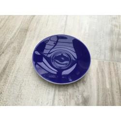 Mørkeblå underkop Confetti fra Aluminia