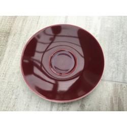 Bordeaux/vinrød underkop Confetti fra Aluminia