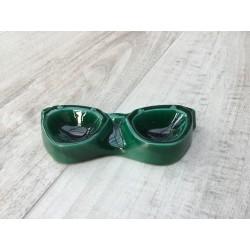 Grønne briller i keramik/porcelæn