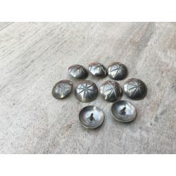 8 stk. knapper metal (Danmark Mule Thers)