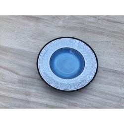Aluminia fad med blålige farver og mønster (nr. 3192)