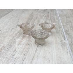 3 små glaskurve til salt/fingersalt