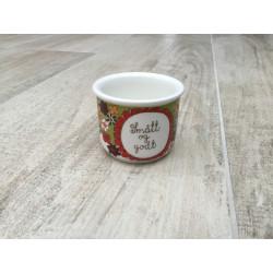 Lille skål Folklore Turidesign F/F med tekst: Smått og godt