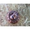 Kobber form med motiv af en pære