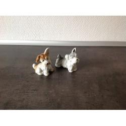 Søde porcelænshunde