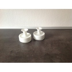 Opaline vase/stage hvid