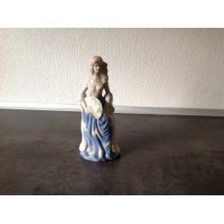 Porcelæns dame med vifte